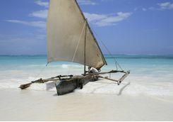 A boat in the Zanzibar ocean