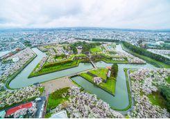 View of Goryokaku Park from Goryokaku Tower