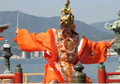 Actor at Itsukushima Shrine