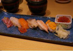 Delicious fresh sushi in Otaru
