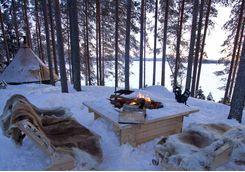 aurora safari camp campfire