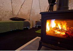 aurora safari camp camp fire