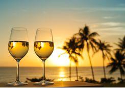 Enjoy drinks on the beach