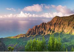 Sunset at Na Pali coast