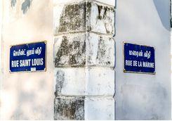 Pondicherry street signs