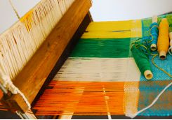 Thanjavur hand weaving