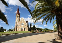 A view of Christ Church in Windhoek