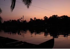 Vembanad Lake sunset