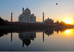 Taj Mahal from across the yamuna_river
