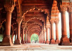 Agra Red Fort colonade
