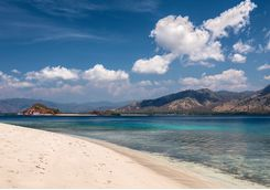 A sandy beach in Komodo