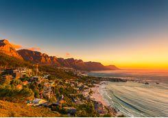clifton beach sunset