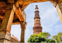 Qutab Minar Tower in Delhi
