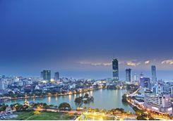Colombo skyline at night