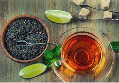 Tea and loose tea leaves