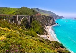 Bixby Bridge in the Big Sur California
