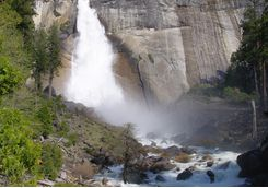 Nevade Falls in Yosemite National Park