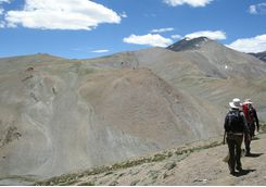 Trekking in Ladakh mountains
