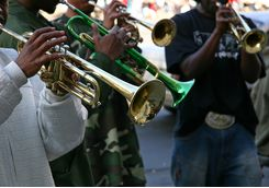 street jazz band trumpet quartet