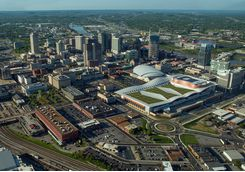 aerial view of nashville tennessee from the south