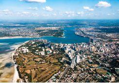 Dar Es Salaam aerial view