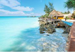 The tropical coast in Zanzibar