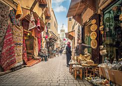 Marrakech market alleyway