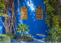 Marrakech gardens wall