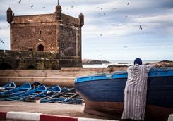 Morocco Essaouira boat view