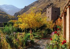 kasbah du toubkal tower from garden