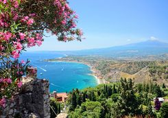 Taormina beach view