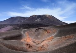 Crater on Mount Etna