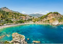 Beach at Taormina