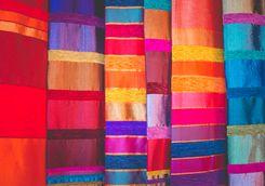 Colourful Moroccan fabrics