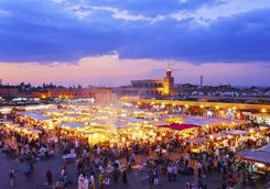 Djemaa el-Fna by night, Marrakech