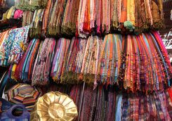 Colourful Moroccan fabrics
