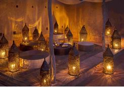 Lantern-lit dining
