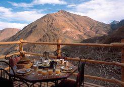 Breakfast overlooking Kasbah du Toubkal