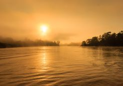 Sunset over the Kinabatangan River