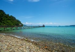 Jetty on Gaya Island
