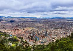 Aerial of Bogota