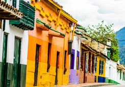 Colourful colonial buildings