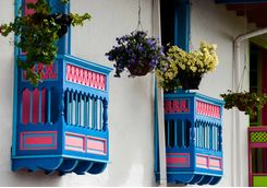 Colourful balconies in Salento