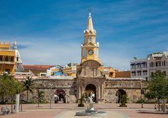 Clock tower in Cartagena