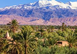 Atlas Mountains With Snow