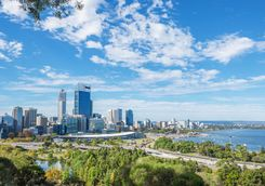 View to Perth city