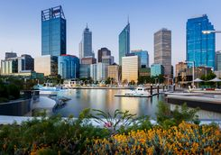 The waterfront in Perth