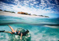 Snorkeling in Sal Salis