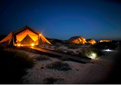 Tents at night