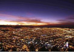 Bogota aerial by night